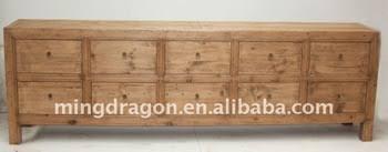 Reclaimed Sideboard Chinese Antique Rustic Reclaimed Wood Sideboard Ten Drawers Buy