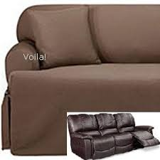 Covers For Recliner Sofas Reclining Sofa T Cushion Slipcover Ribbed Texture Chocolate