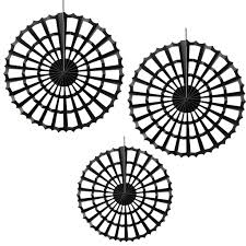 halloween wall cover black halloween spider fan decorations 3 pack trick or treat
