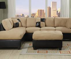 Simple Sectional Sofa Sofa Sectional Sofas Microfiber Miraculous Black Microfiber