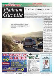 platinum gazette 17 june 2016 by platinum gazette issuu