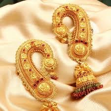 kaan earrings beatiful gold kaan earrings covering entire ear indian