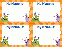 printable monster name tags label name tag stickers for field trips student folders etc