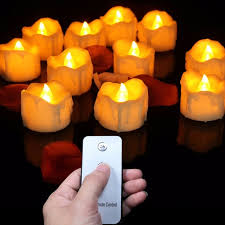 fake tea light candles 12 pieces small flickering decorative candles with remote control