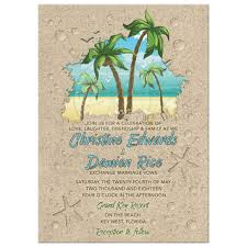 destination wedding invitation retro palm trees wedding invitation