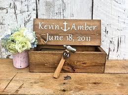 wine box wedding ceremony wedding wine box ceremony nautical wedding decor anchor decor