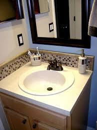 bathroom vanity backsplash ideas modest glass tile backsplash in bathroom cool gallery ideas 4459