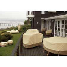 Brookstone Patio Furniture Covers - classic accessories veranda round fire pit patio storage cover
