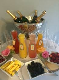 mimosa bar great idea for a baby shower brunch or any small event