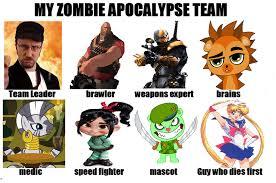 Zombie Team Meme - my zombie apocalypse team by ronmart12 on deviantart