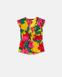 linen blouses printed linen blouse in zara united states