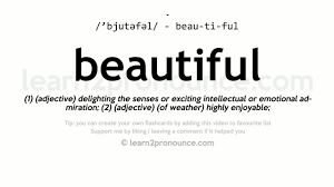 beautiful pronunciation and definition youtube