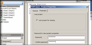unprotect vba project in excel without password