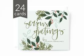 bulk christmas cards personalized christmas card set of 24 lettered illustrated