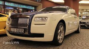 roll royce ghost white rolls royce ghost two tone blue white youtube