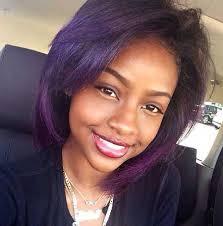 feathered bob hairstyles 2015 african american layered purple bob haircut