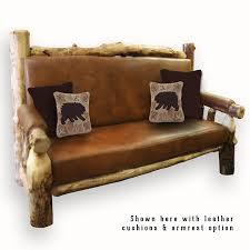 rustic furniture cushioned couch