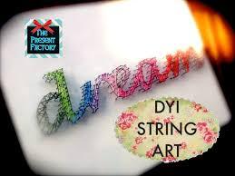 diy string art youtube