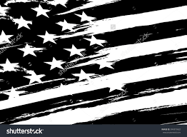 Usa Flag Vector American Flag Black And White Clipart