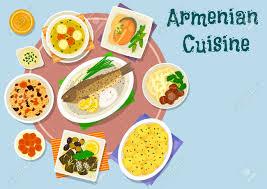 cuisine avec du riz armenian cuisine des plats dîner icône poisson cuit au four avec du