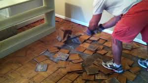 How To Put Laminate Flooring Down How To Remove Parquet Hardwood Flooring Youtube