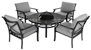 Aluminium Bistro Table And Chairs Hartman Jamie Oliver Fire Pit Set Metal Garden Furniture Hayes