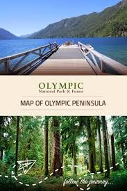 Olympic National Park Map Map Of Olympic Peninsula Olympic National Park U0026 Forest Wa