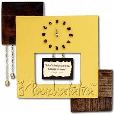 buy painted wooden designer clock for room wall online in india