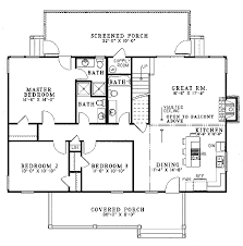 Country House Plan by Farmhouse Style House Plan 4 Beds 4 00 Baths 1970 Sq Ft Plan 17
