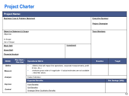 Six Sigma Excel Templates Lean Six Sigma Storyboard Template By Operational Excellence Consulti