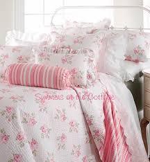 shabby white cottage ruffle eyelet lace sheet set full queen