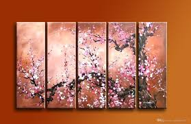 Cherry Blossom Home Decor 2017 Large Wall Art Cherry Flower Painting Modern Home Decor 100