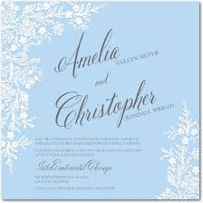 light blue wedding invitations embossed porcelain signature white wedding invitations claire