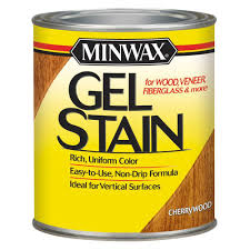 interior wood stain colors home depot minwax 1 qt cherrywood gel stain 66070 the home depot throughout
