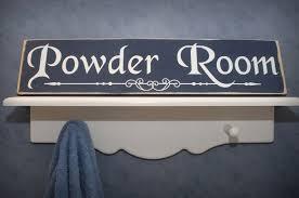 Powder Room Sign Bathroom Signs