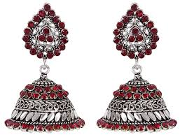 jhumka earrings indian traditional cz jhumka earrings bridal women