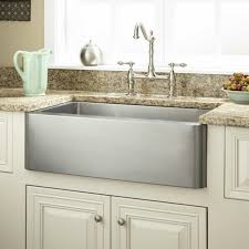 Stainless Steel Apron Front Kitchen Sinks Granite Countertops With Sink Kitchen Rectangular Grey Stainless