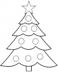 christmas tree coloring pages 5 coloringbus