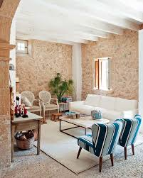 dashing french country living room with original natural stone
