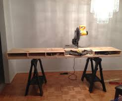 diy table projects build a miter saw table i made it at techshop