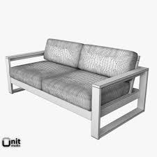 West Elm Lounge Chair 3d Portside Lounge Set By West Elm Cgtrader