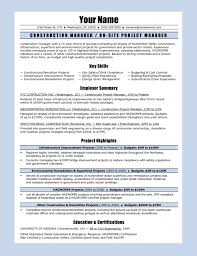 Project Manager Construction Resume 7 Construction Resume Sample Denial Letter With For Laborer 23