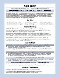 Sample Resume For Construction Manager 7 Construction Resume Sample Denial Letter With For Laborer 23