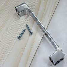 modern kitchen handles and pulls 160mm simple fashion modern furniture handles shiny silver kitchen