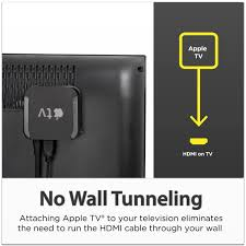 wall mounted tv hiding cables amazon com totalmount apple tv mount compatible with 2nd and 3rd
