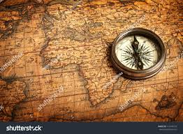 Map Of The United States With Compass by Old Vintage Retro Compass On Ancient Stock Photo 113476153
