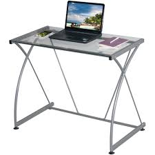 Techni Mobili Desk Assembly Instructions by Tempo Clear Glass Desk With Grey Steel F Walmart Com