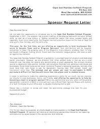 vendor donation letter sample vendor sponsorship letter by