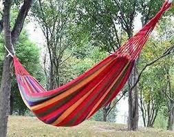 online cheap travel camping canvas hammock outdoor swing garden