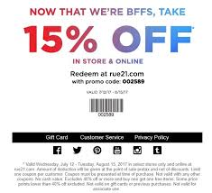 rue 21 coupons printable coupons in store coupon codes
